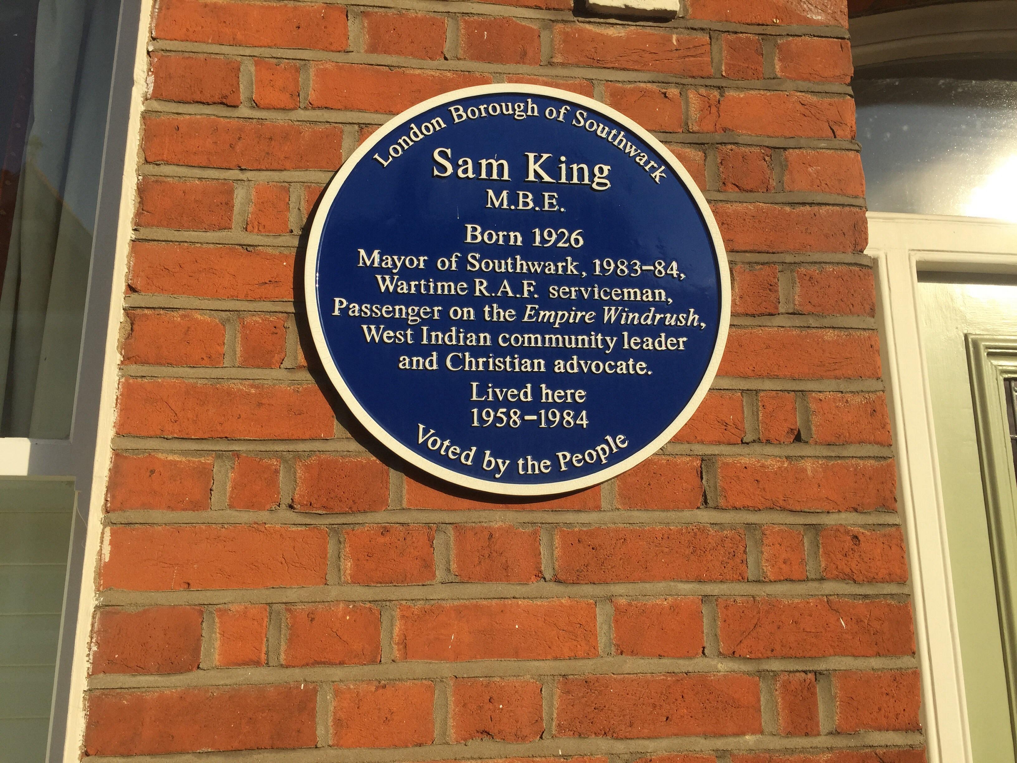 IWM_Sam_King_plaque