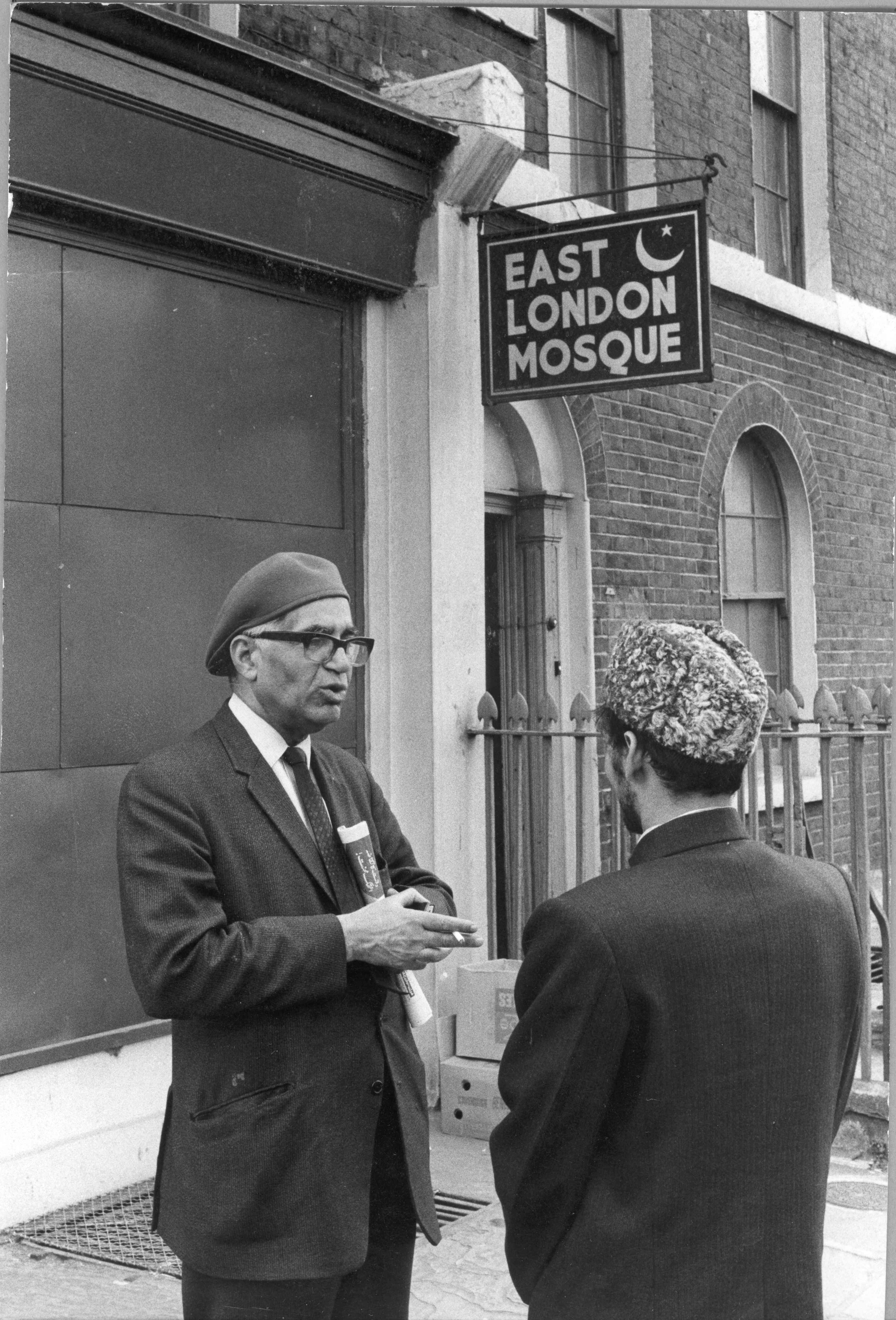East London Mosque, Commercial Road, 1972